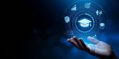 Fototapeta Education Distance E-learning Online Learning Personal development concept obraz