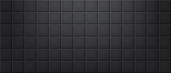 Obraz Black ceramic tiles wall texture abstract background vector - fototapety do salonu