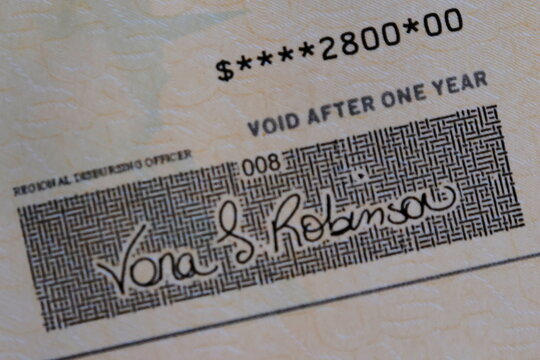 A family's stimulus check from the U.S. Treasury for the coronavirus disease (COVID-19) aid arrived in the mail in Milton