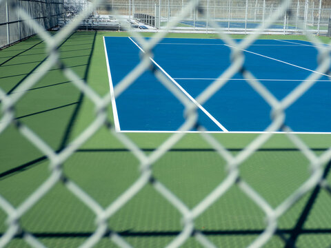 abstract photo of empty tennis court