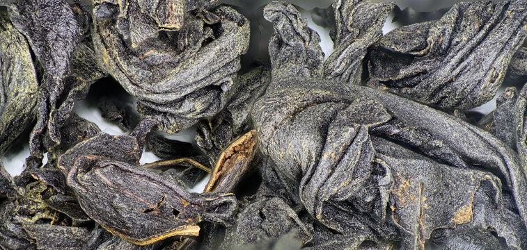 tea black long leaf large-leaf