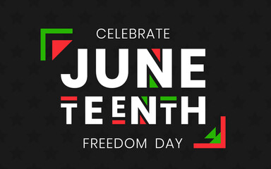 Obraz Juneteenth Freedom Day banner. African-American Independence Day, June 19, 1865. Vector illustration of design template for national holiday poster or card - fototapety do salonu
