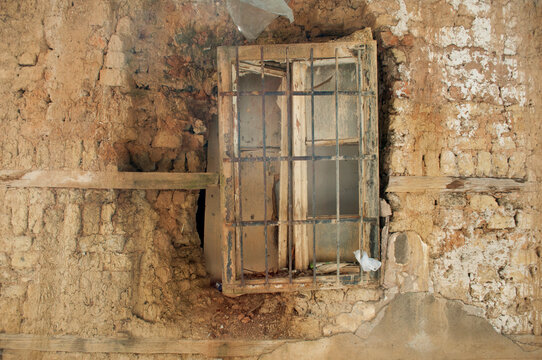 Old Window of a Ruined House in Sarajevo