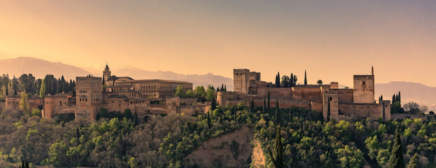 dawn in Alhambra Granada Spain