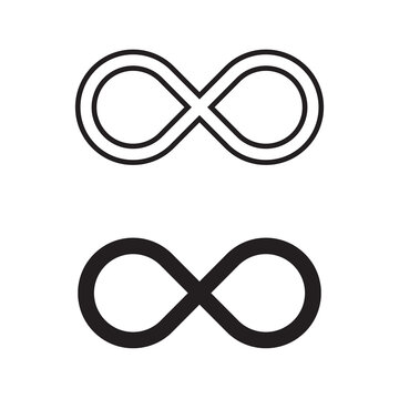 Infinity symbol icons vector illustration. Unlimited, limitless symbol, sign. Infinity icon jpg.