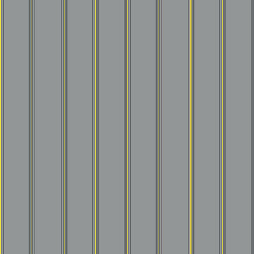 Vector seersucker grey yellow striped seamless pattern background. Classic preppy shirting vertical stripe repeat backdrop.Thin striped fabric style ticking design. All over print for fabric textiles