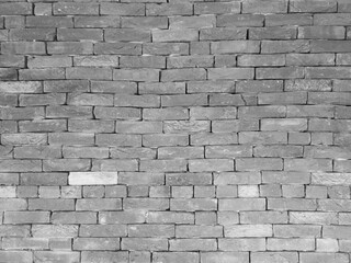 Background with black and white brick wall detail