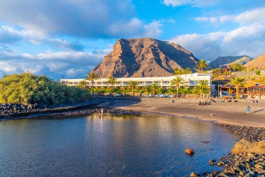 Charco del Conde rock pool at La Gomera, Canary Islands, Spain