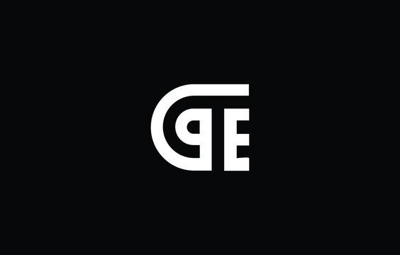 Initial based TE, ET, PE, EP, DE, ED, TC, CT,  logo template. Unique monogram alphabet letters design and vector.