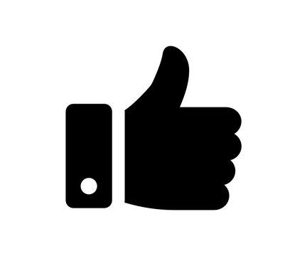 Hand like, thumb up vector icon illustration. Social media concept.