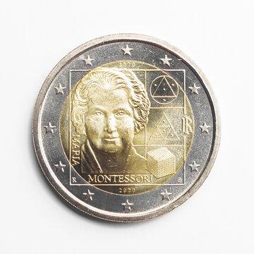 2 Euro Italien - 2020 - ST/UNC - 150. Geburtstag von Maria Montessori