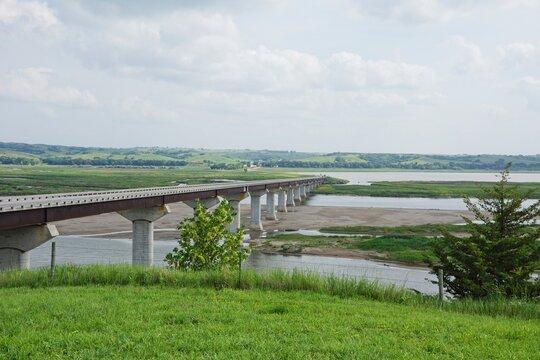 Bridge over the Missouri river between Niobrara NE and Springfield SD