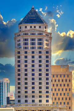 Miami Dade County Courthouse Building Exterior, Florida, USA