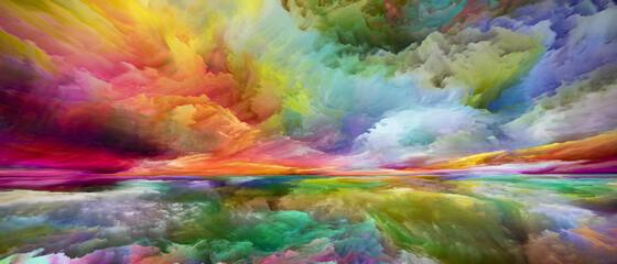 Obraz Metaphorical Land and Sky - fototapety do salonu