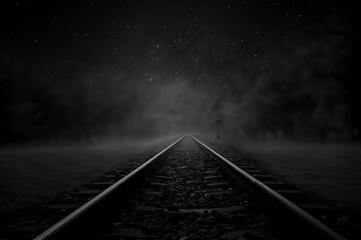 railway in the night