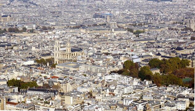 Vue aérienne Paris France