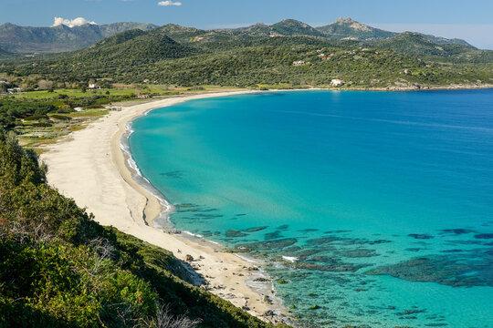 La plage de Losari, en Haute-Corse