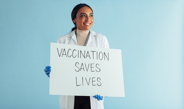 Doctor spreading vaccination awareness