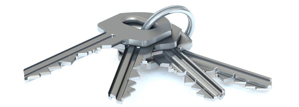 Schlüsselbund in 3D