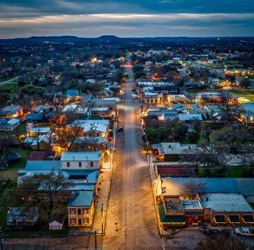 Evening Over Comfort, Texas