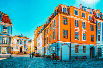Landscapes of the Old City of Riga, is central and historical part of Riga.