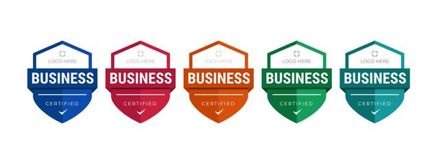 Obraz Set of company training badge certificates to determine based on criteria. Vector illustration certified logo design template. - fototapety do salonu