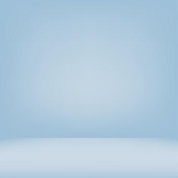 Abstract blue gradient background room studio. Vector