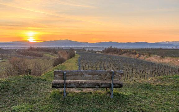 Sonnenaufgang bei Eichstetten am Kaiserstuhl