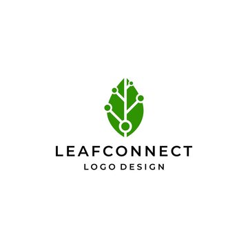 Modern and unique logo about leaves and connections. EPS10, Vector.