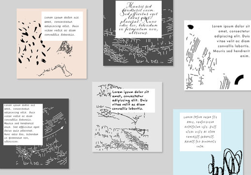Artistic Social Media Post Banners Layout