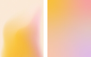 Pink and yellow gradient textured backgrounds. For covers and wallpapers, for web and print.
