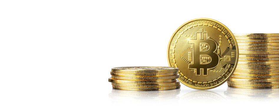 金色のビットコイン