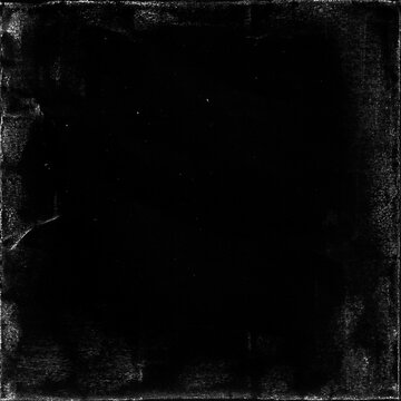 old paper texture in square frame for cover art. grungy frame in black background. can be used to replicate the aged and worn look for your creative design.