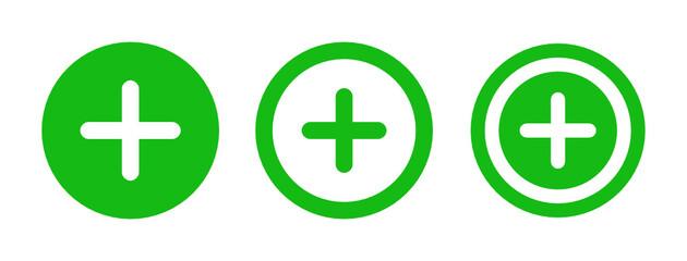 Obraz Add, add to, circle, enlarge, open, plus, new sign icon illustration. - fototapety do salonu