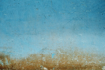 Blue painted grunge background or texture