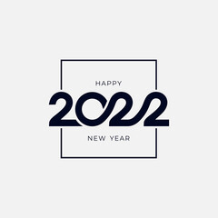 Fototapeta Christmas card 2022 in typographical design. Merry Christmas and Happy New Year. 2022 design template with typography for celebration and season decoration. Vector logo for branding, calendar, banner.