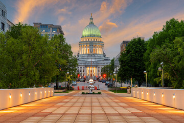 Obraz Madison, Wisconsin, USA state Capitol Building - fototapety do salonu