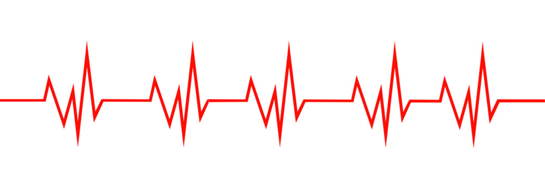 Heart line isolated vector. Heart rate concept. Medical health care.