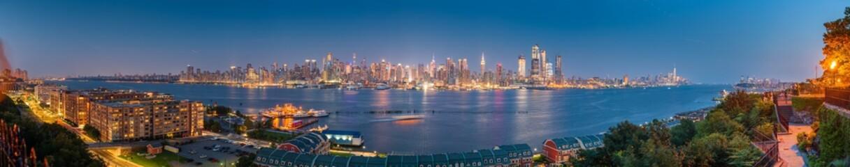 New York, New York, USA Midtown Manhattan skyline on the Hudson River