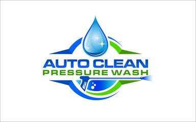 Fototapeta Illustration vector graphic of pressure power wash spray logo design template
