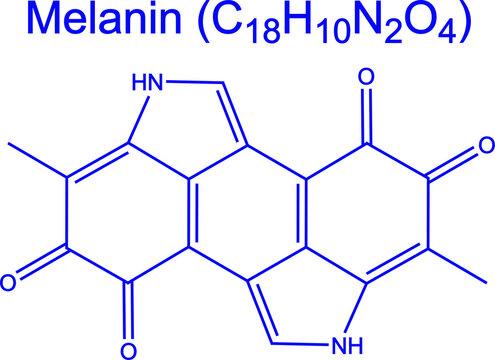 Melanin natural pigment molecule chemical formula