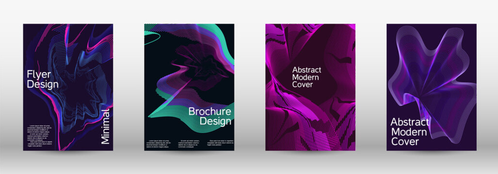 Modern design template. A set of modern abstract covers.