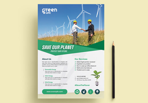 Green Energy Flyer Layout