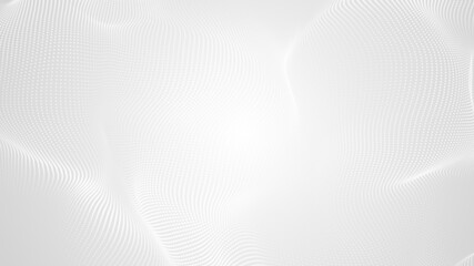 Dot white gray wave light technology texture background. Abstract big data digital concept. 3d rendering.