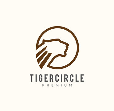 Tiger Head logo,modern and simple logo style, usable for brand and businesses related to courage, nature, such as menswear, sports, automotive, and others , vector illustration