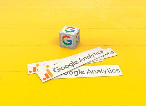 google analytics, social media background design