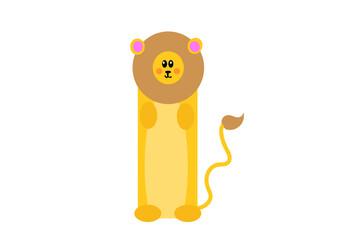 Obraz lew, król dżungli, afryka, zoo, ciepłe kraje, kotek, zabawka, naklejka, dziecko, ozdoba, radość, zabawne, cudne, zakładka do książki, - fototapety do salonu