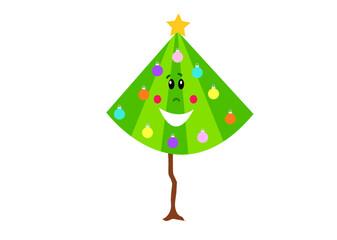 choinka, uśmiech, twarz, oczy, kolorowe ozdoby, święta, Mikołaj,  Mikołajki, aniołek, ozdoby, dekoracje, naklejka, pomysł, kreatywne, pokój dziecka