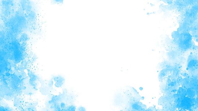 明るい水色の水彩風の背景素材
