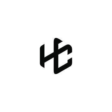 initial HC logo design